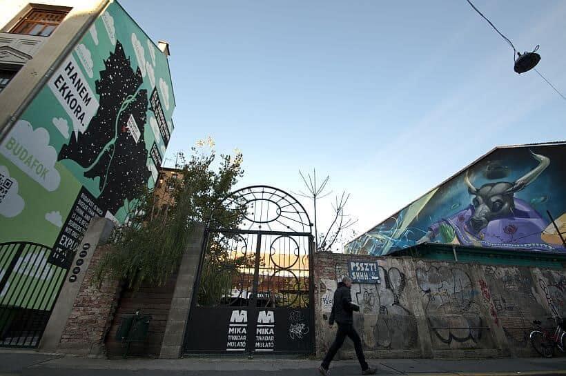 Street art in Budapest's Jewish district