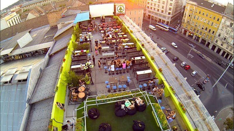 Corvin rooftop terrace