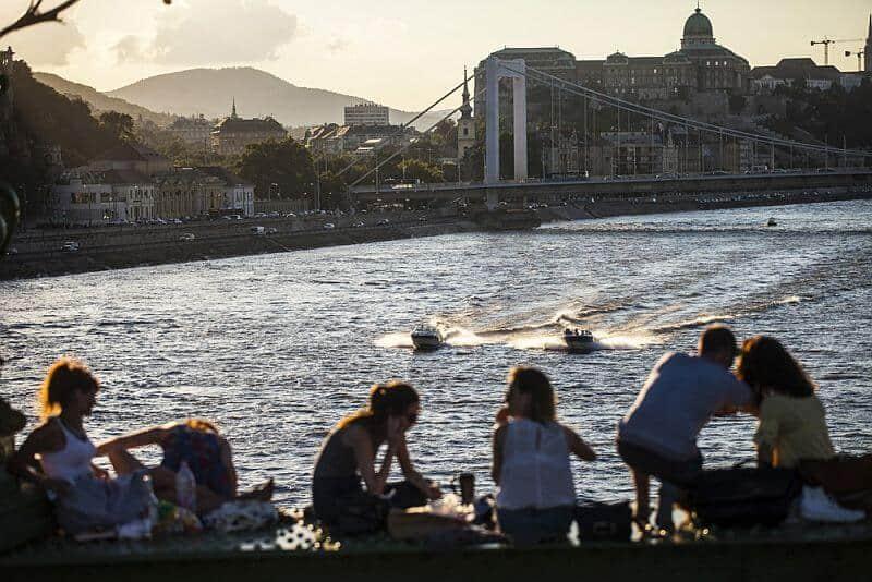 Erzsébet bridge Budapest