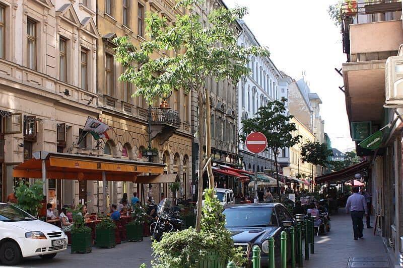 Ráday street Budapest