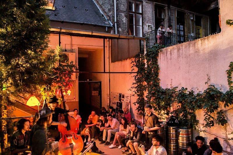 Auróra alternative cultural center Budapest