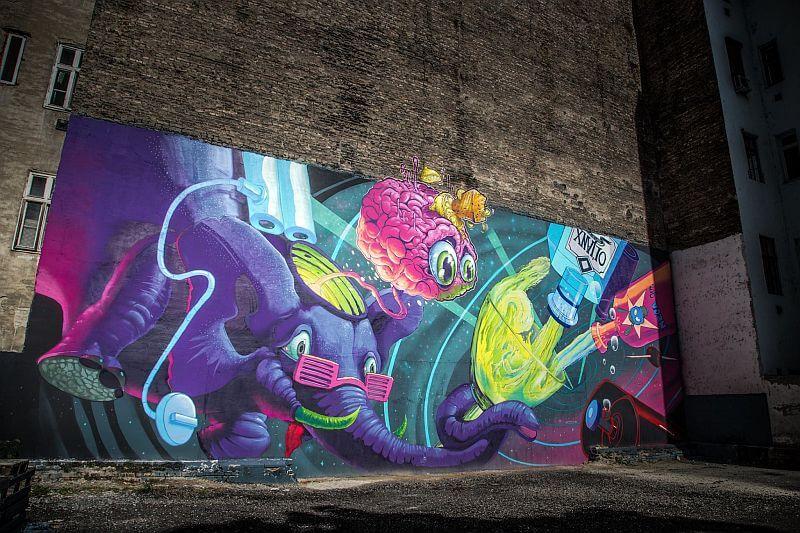Fat heat - street art in the Jewish Quarter of Budapest