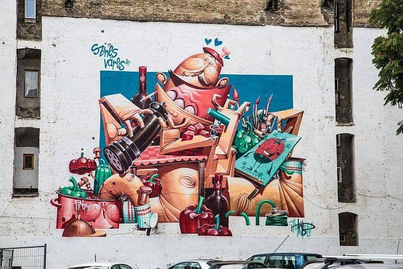 Hrvb - mural in Budapest Kertész street