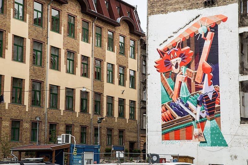 Street art by Vidám the Wierd in Budapest