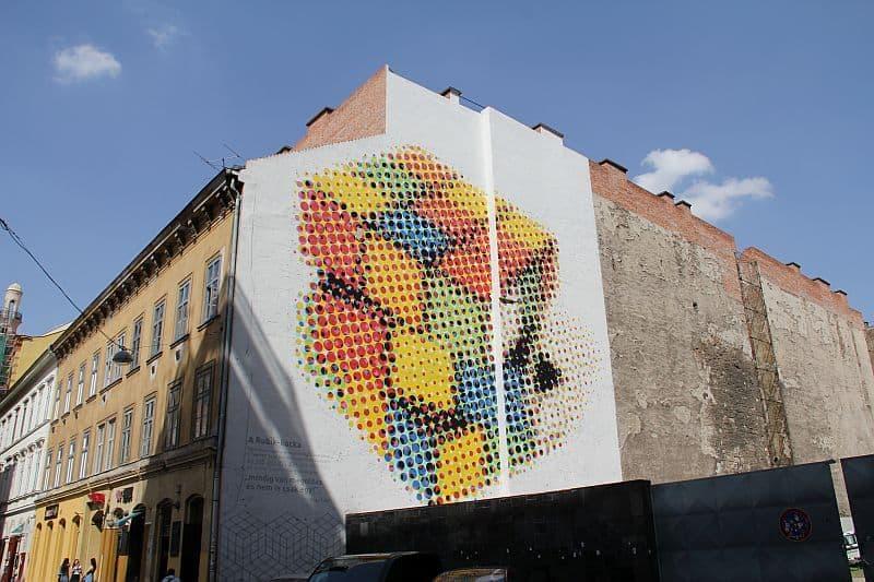 Rubiks cube mural
