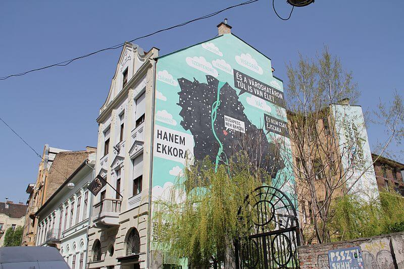 Budapest isnt so small mural