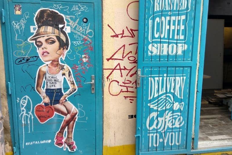 Street art by MissKK in Budapest