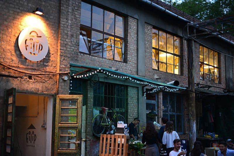 Filip underground bar and vintage shop in Népsziget