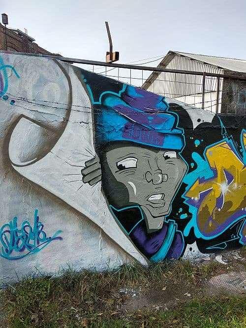 Wall art at Filatorigat legal gfafitti wall