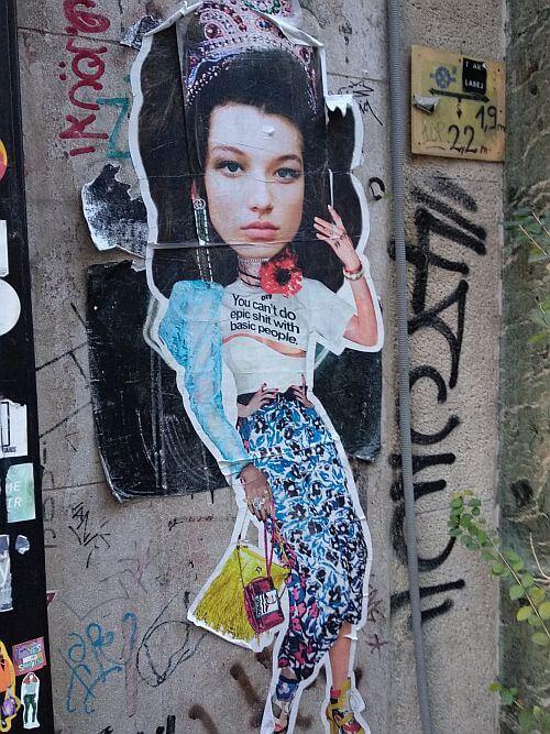 Street art by Miss KK in Budapest