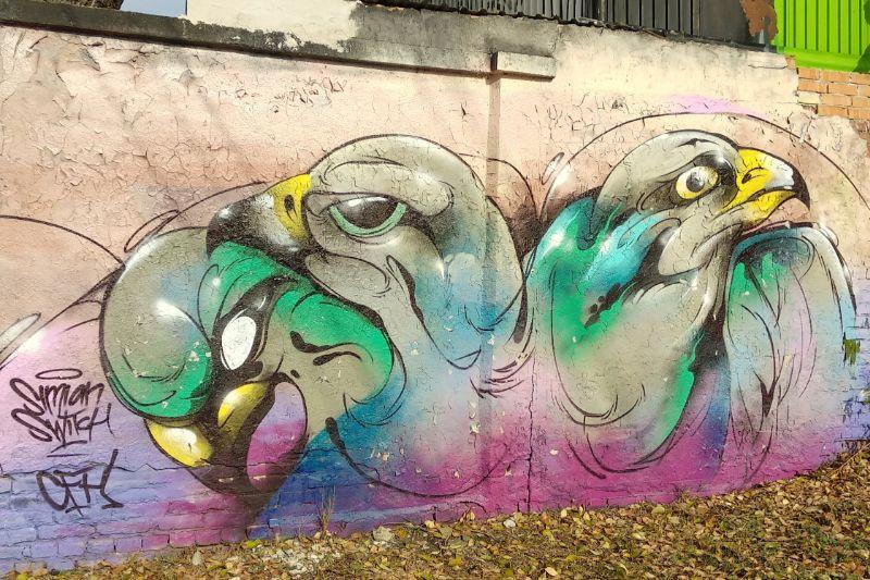 Wall art Filatorigat legal graffiti wall Budapest