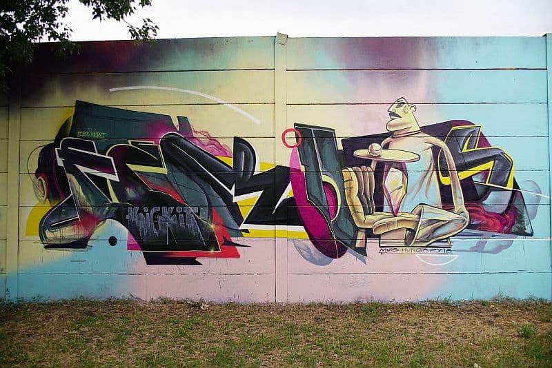 Graffiti at Szemeretelep Budapest