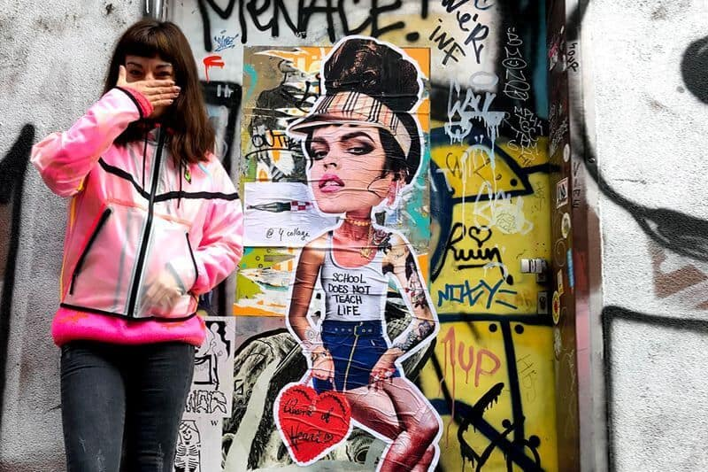 Miss KK the Hungarian female street artist
