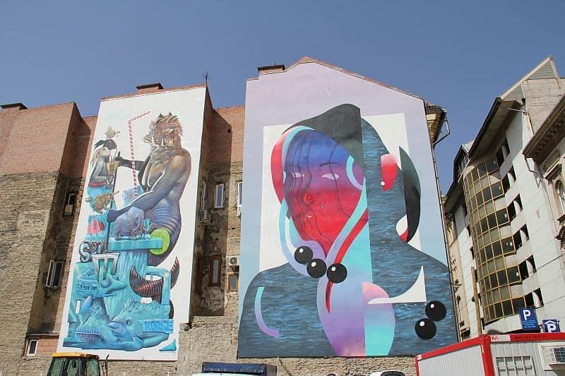 Mural Spok Korse and Adno in Budapest