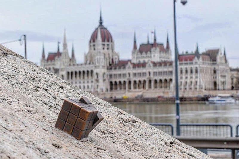 Rubik's cube mini statue Budapest
