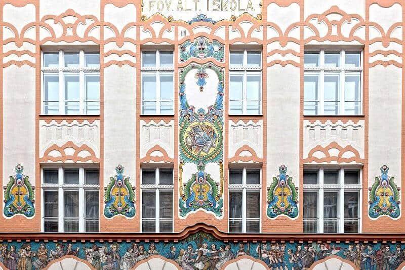 Dob Street School Budapest Art Nouveau Building