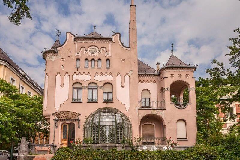 Sipeki Villa Art Nouveau building in Budapest