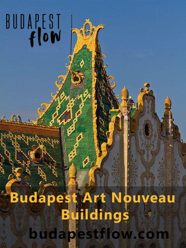 Budapest art nouveau buildings pinterest