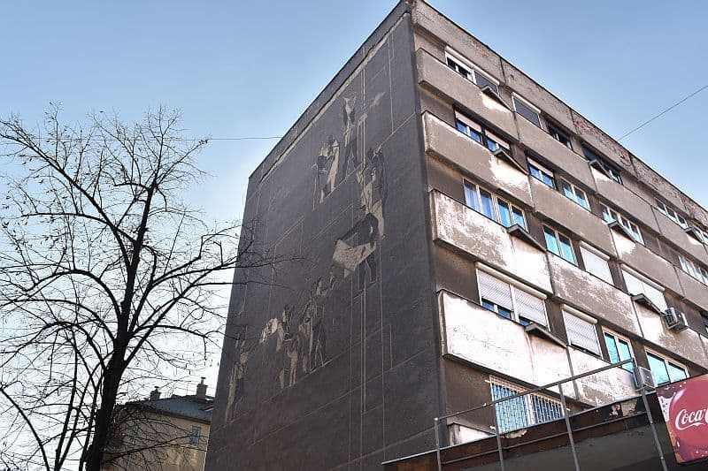 Socialist Realism mural Budapest