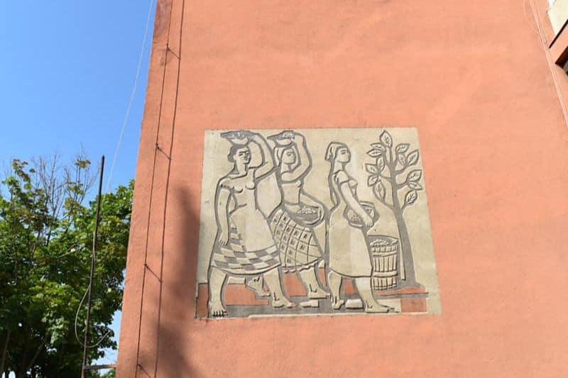 Socialist mural in Budapest