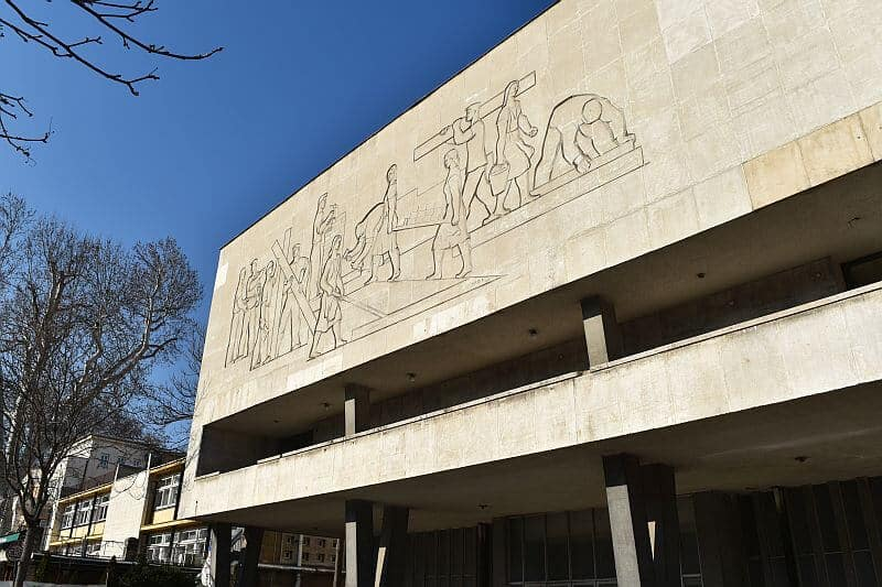 Social realism concrete reliefs from 1949