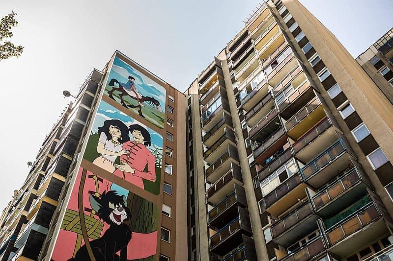 Szaffi mural in Budapest