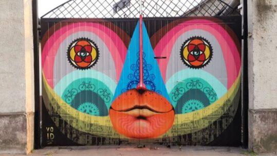 Graffiti by Hungarian street artist Void