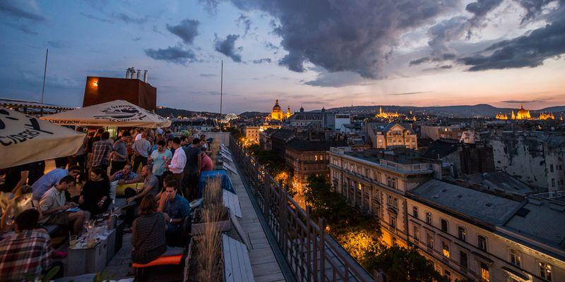 360BAR Budapest by night