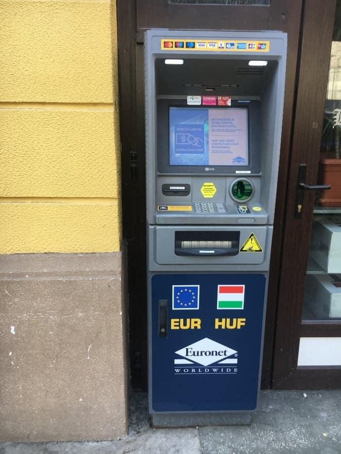 Euronet ATM in Budapest