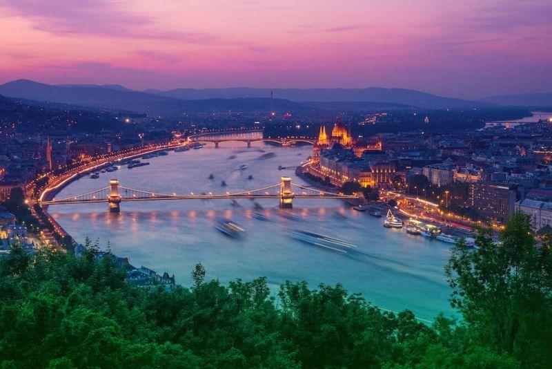 Sunset Gellert Hill Budapest